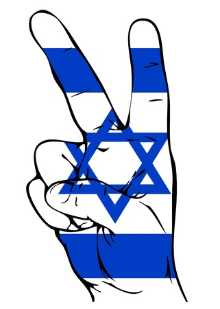 Peace Sign of the Israeli flag Vector