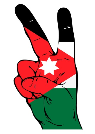 national colors: Peace Sign of the Jordan flag