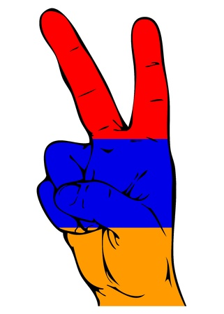 national colors: Peace Sign of the Armenian flag