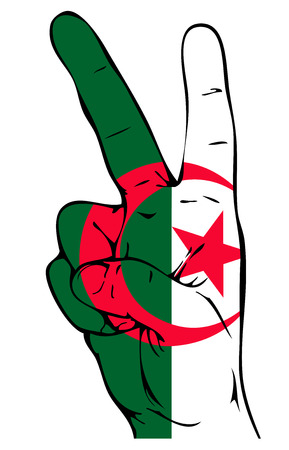 victorious: Peace Sign of the Algerian Flag