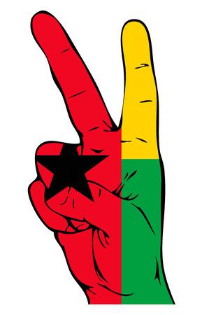 guinea bissau: Peace Sign of the Guinea Bissau flag Illustration
