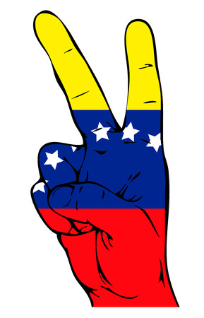 caracas: Peace Sign of the Venezuelan flag Illustration