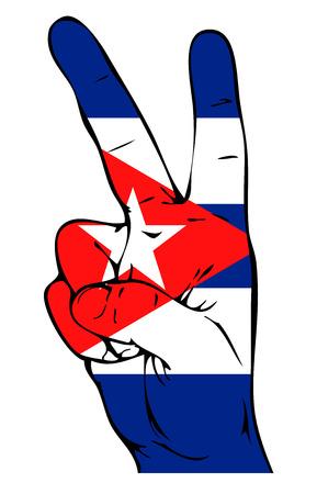 cuban flag: Peace Sign of the Cuban flag