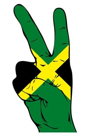 jamaican: Signo de la paz de la bandera de Jamaica