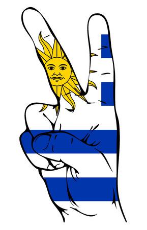 bandera de uruguay: Signo de la paz de la bandera uruguaya