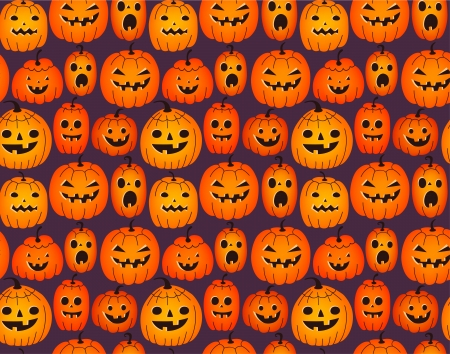 drakula: Halloween background with funny pumpkins