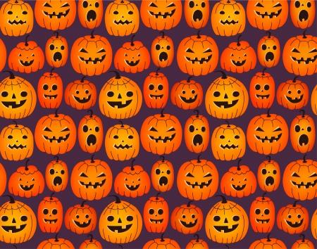drakula: Halloween background with funny pumpkins