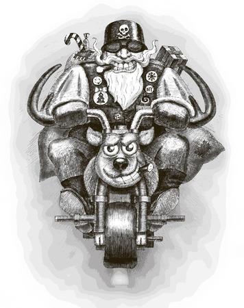 hristmas: Santa Claus Biker