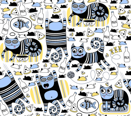 gentleness: Funny cats seamless