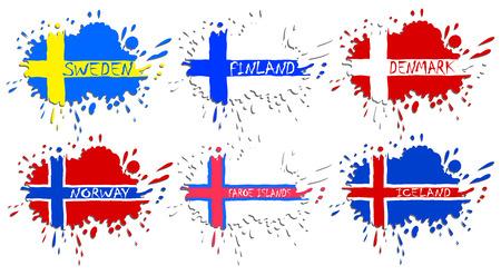 suomi: Scandinavian flags as spots