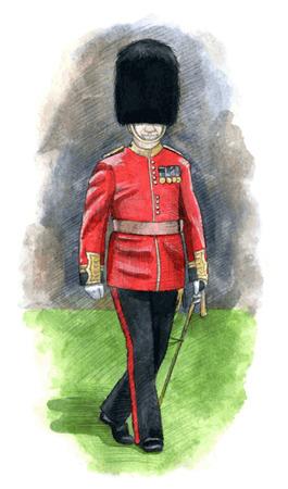 honor guard: England Royal guard