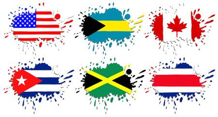 bandera de costa rica: Banderas de América del Norte en forma de manchas