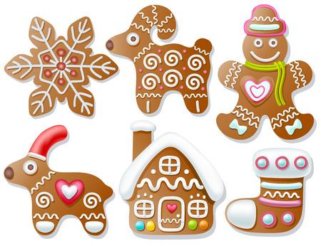 Set of gingerbread Illustration