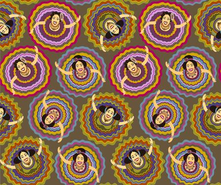 guadalajara: Mexican dancers background