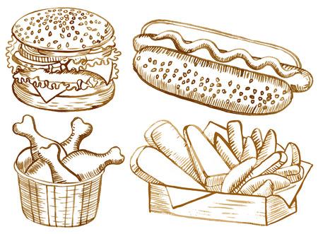 nuggets de pollo: Conjunto de los alimentos de América