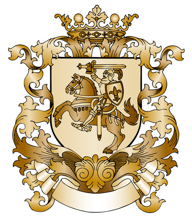 Coat of arms drawn by hand Illustration