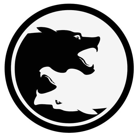 black silhouette: Wolf
