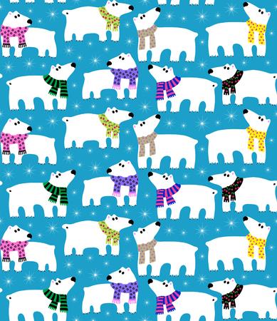 oso: Los osos polares en fondo azul