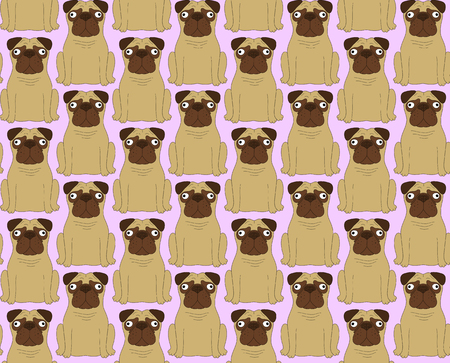 cloning: Funny dogs. Seamless background