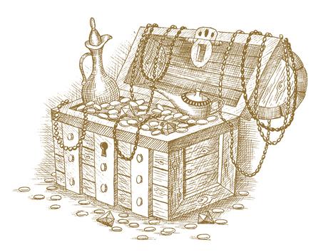 unearth: Treasure chest Illustration