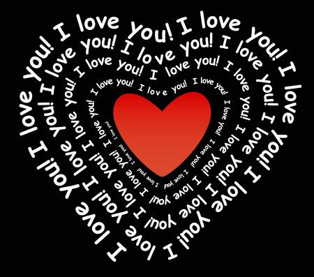 Kocham cię w formie serca
