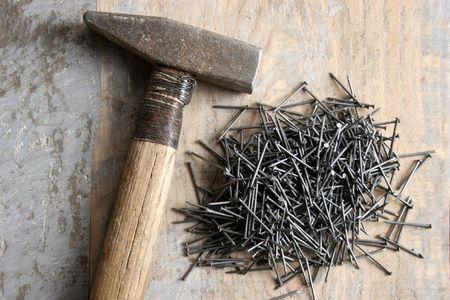 whack: a hammer and nail