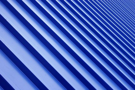 undulate: blue metal roof Stock Photo