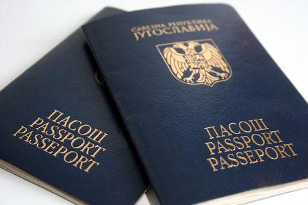 yugoslavia: two passports Yugoslavia Stock Photo