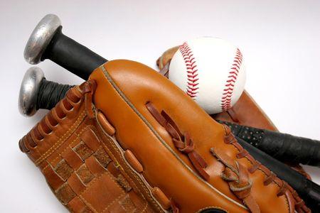 guante beisbol: B�isbol, guante y palo