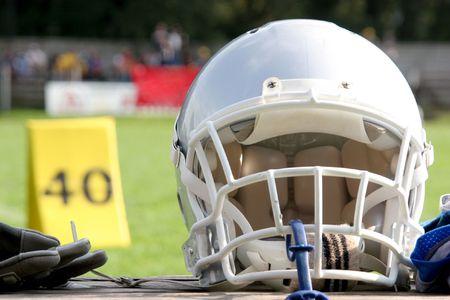 football helmet: American football helmet