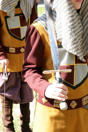 knightly: knightly clothing and sword