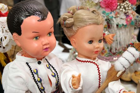 national costume: dolls in national costume