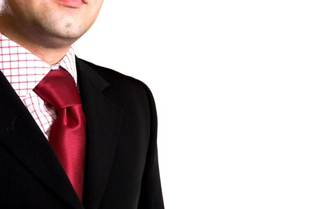 A businessman, clothing. Closeup of a tie and shirt Stock Photo - 769697