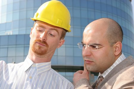 architect and businessman with architectural plans Stock Photo - 835108