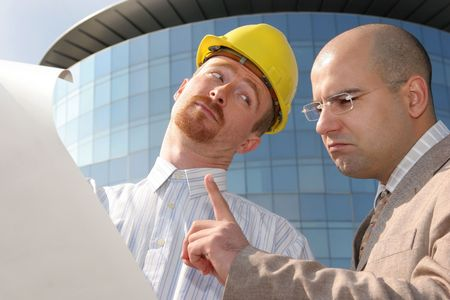 architect and businessman with architectural plans Stock Photo - 835106