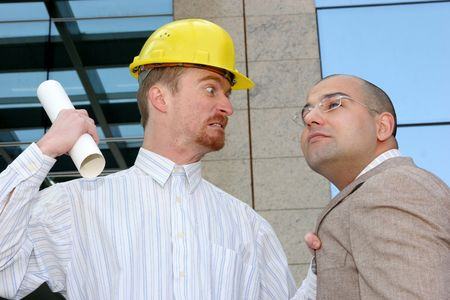 angry architect and businessman with architectural plans Stock Photo - 835098