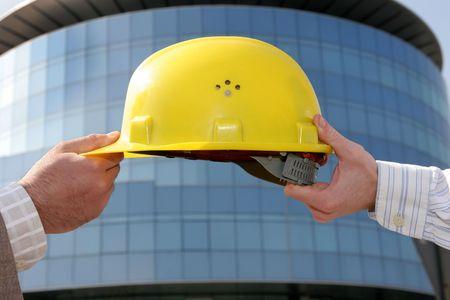A protective engineers helmet, change