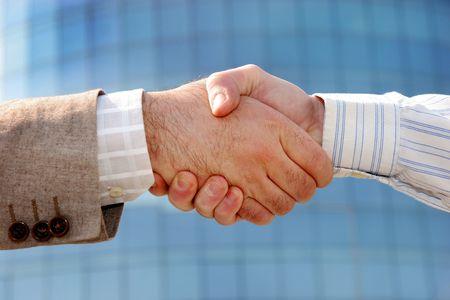 Details business handshake, partnership
