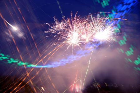 abstract fireworks photo