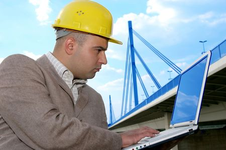 architect with laptop