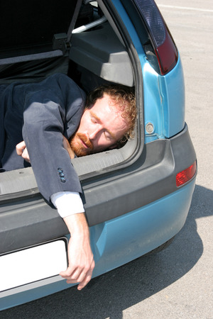 Dead man in car boot Stock Photo - 1448873