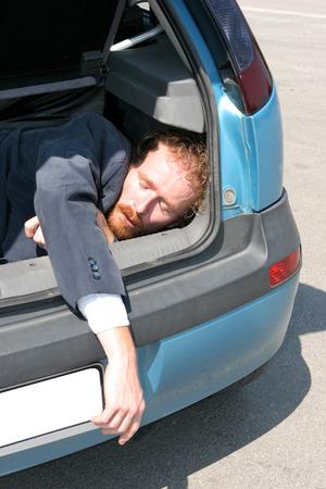 Dead man in car boot Stock Photo - 1448873