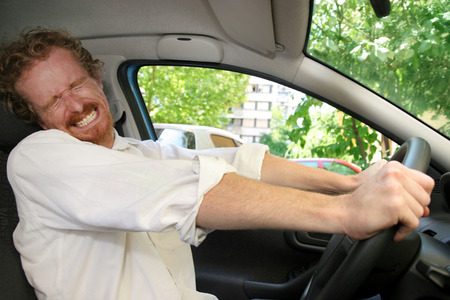 Driver moment away from accident Stock Photo - 1448803