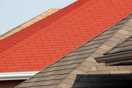 parte de una casa con techo, casa de estilo americano Foto de archivo - 2028815