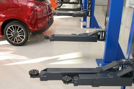 maintain: Auto repair workshop, mechanics garage Stock Photo