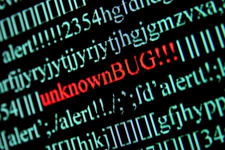 Computer bug on a screen Stock Photo - 2345245