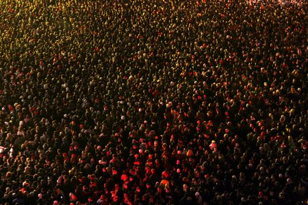 Crowd of people at a concert eve Stock Photo