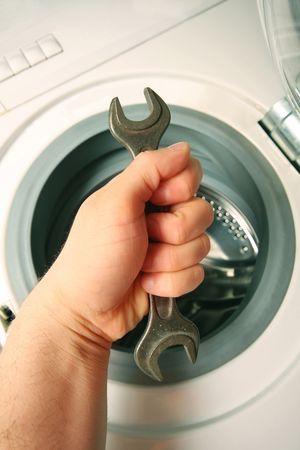 agd: uchwyt podwójnego klucz francuski, konserwacji pralki