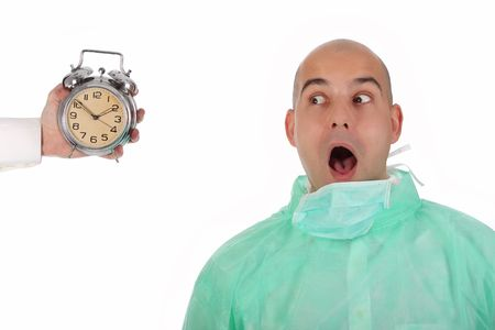 Details an surgeon panic and clock alarm photo