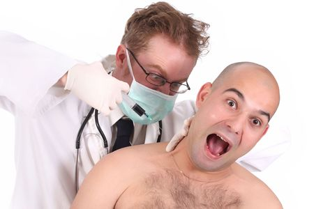 funk: details aggressive doctor injecting a funk patient